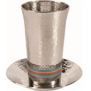 כוס קידוש לשבת צבעוני בת מצווה בר מצווה
