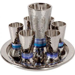 סט קידוש גביעים לשבת גביע עם כוסיות