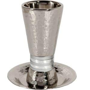כוס קידוש עם צלחת גביע קידוש עם צלחת שבת כסוף