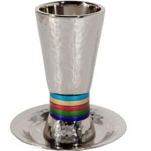 גביע קידוש עם רגל לשבת צבעוני