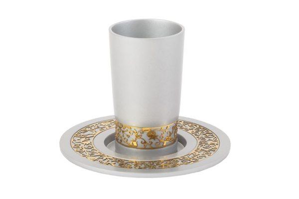 כוס קידוש כסף זהב