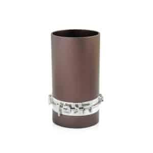 גביע קידוש כוס קידוש שבת אנודייז עם כיתוב דבח אפור