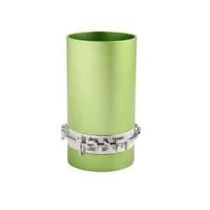 גביע קידוש כוס קידוש שבת אנודייז עם כיתוב דבח ירוק